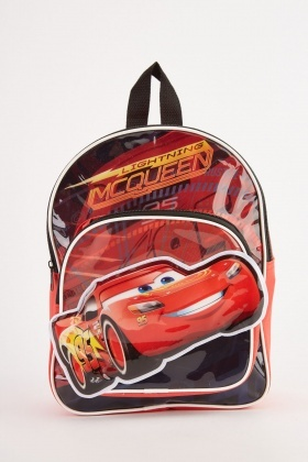 Lightning Mcqueen Themed Backpack