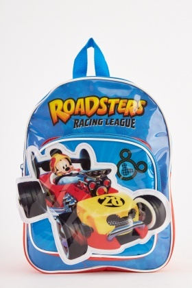 Mickey Mouse Roadsters Themed Backpack