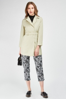 Belted Long Line Mac Coat
