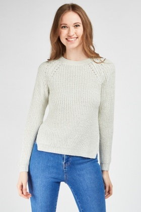 Casual Round Neck Knit Jumper
