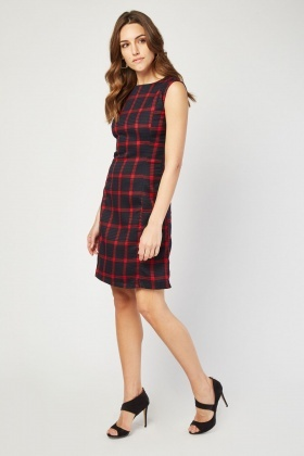 Textured Window Pane Dress