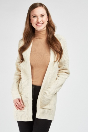 Twin Pocket Front Slouchy Cardigan