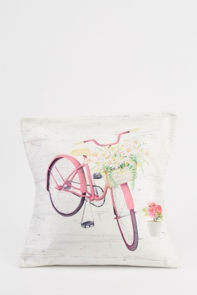 Bicycle Print Cushion