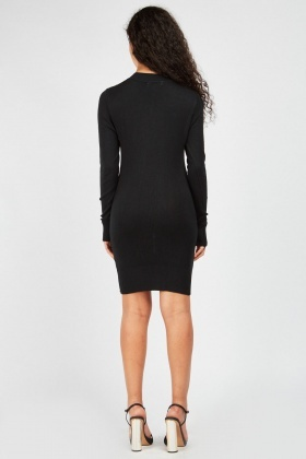 Encrusted Front Knit Dress