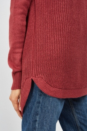 Herringbone Contrast Knit Jumper
