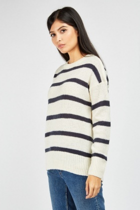 Novelty Stripe Knit Jumper