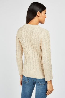 Plaited Cable Knit Jumper