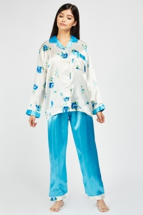 Rose Sateen Pyjamas Set