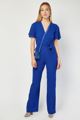 Royal Blue Wrap Jumpsuit
