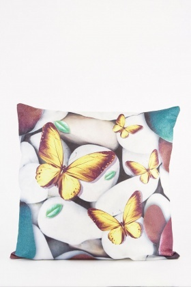 Butterfly Pebble Printed Cushion