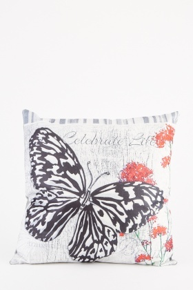 Faded Butterfly Printed Cushion