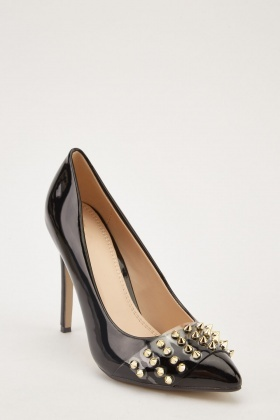 Spike Trim Court Heels