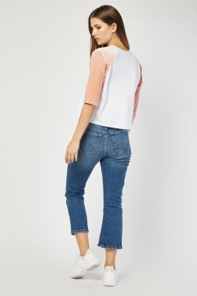 Ankle Grazer Denim Blue Jeans