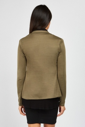 Button Front Fitted Blazer