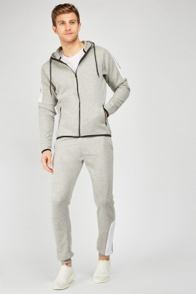 Joggers With Contrasted Side Panel