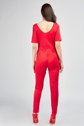 Low Scoop Neck Skinny Jumpsuit
