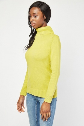 Chunky Roll Neck Knit Jumper