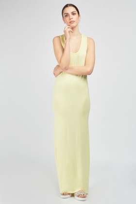Scoop Neck Sleeveless Maxi Dress