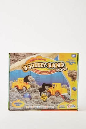 Squeezy Sand Rock Construction Zone Set