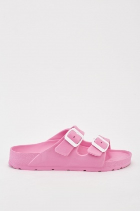 Buckle Strap Flat Sliders