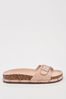 Encrusted Side Flat Sliders