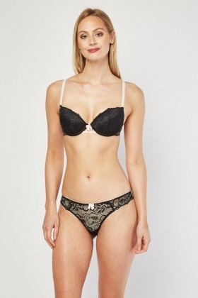 Push Up Bra And Brief Set