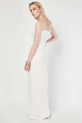 Bandeau Plain Maxi Dress