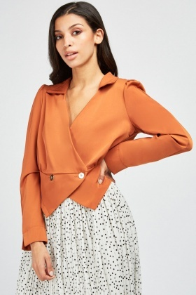 Button Front Long Sleeve Blouse