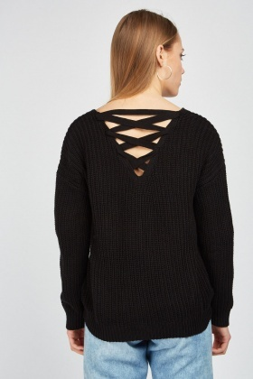 Criss-Cross Chunky Knit Jumper