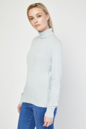 Roll Neck Fine Knit Jumper