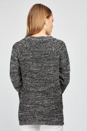 Round Neck Speckled Knit Jumper