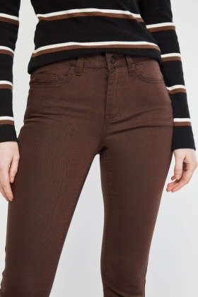 Skinny Fit Coffee Trousers