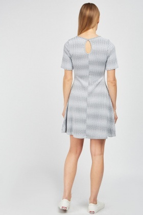 Zig-Zag Pattern A-Line Dress