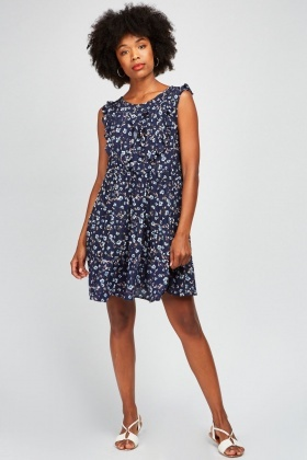 Ditsy Floral Printed Dress