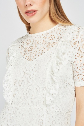 Lace Patterned Overlay Dress