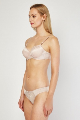 Push Up Mesh Bra And Brief Set