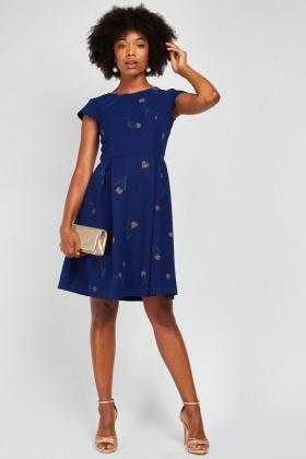 34eac56fd3fe Rose Printed Princess-Line Dress - Just £5