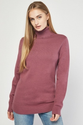 Chunky Knitted Roll Neck Jumper