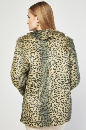 Fluffy Lapel Front Jacket