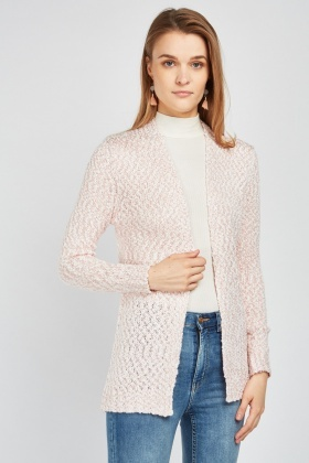 Two Tone Speckled Knit Cardigan