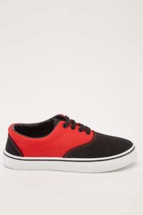 Colour Block Canvas Plimsolls