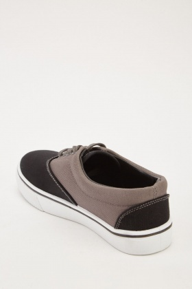 Colour Block Textured Plimsolls