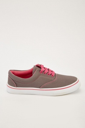 Lace Up Canvas Plimsolls