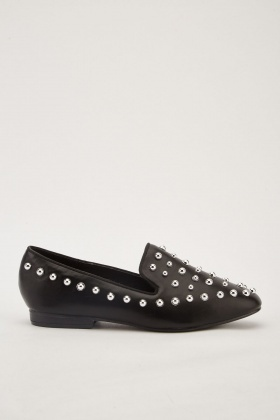 Studded Slip-On Loafers