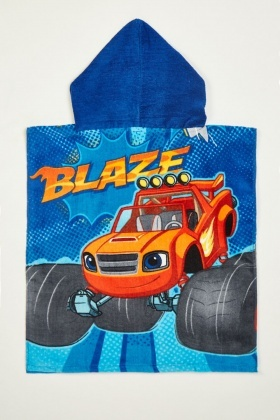 Blaze Hooded Beach Towel Poncho