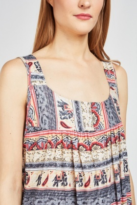 Ethnic Printed Tent Dress