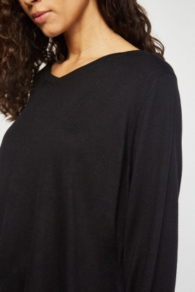 Fine Knit Asymmetric Sweater
