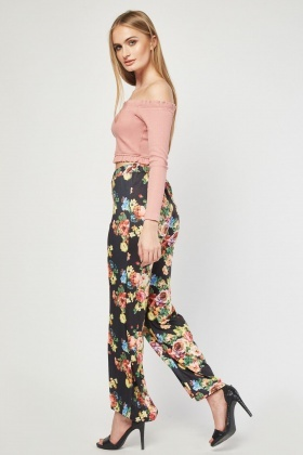 Floral Printed Light Trousers