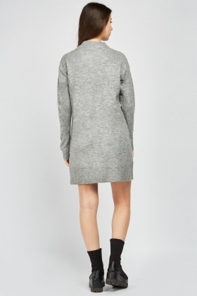 Funnel Neck Jumper Dress