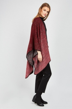 Speckled Contrast Poncho